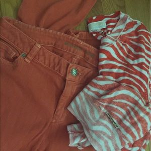 Micheal Kors burnt orange jeans
