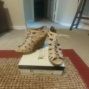 Restricted Shoes - Lace up Wedges