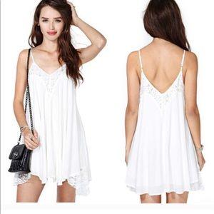 White nasty gal dress