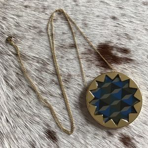 House of Harlow 1960 Jewelry - House of Harlow blue green sunburst necklace