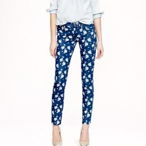J.Crew floral cropped matchstick jean