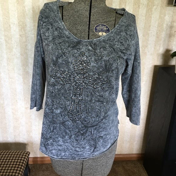 Maurices Tops - Maurices distressed look sweatshirt