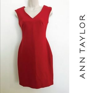 Ann Taylor Dresses & Skirts - Ann Taylor classic career dress in fiery red 💄