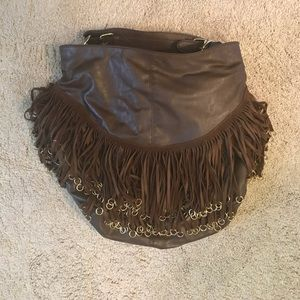 Handbags - Fun Shoulder Bag with Suede Fringe