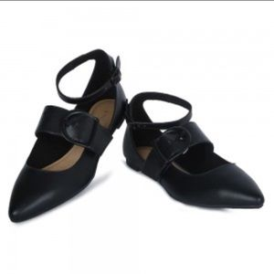Christian Siriano Shoes - Black multi buckle flats New 6 7.5 8 8.5 9 9.5 $22