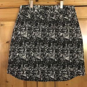 Banana Republic black white texture skirt-New-Sz 2