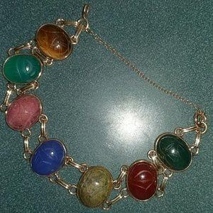 Jewelry - 14k Vintage Scarab Bracelet
