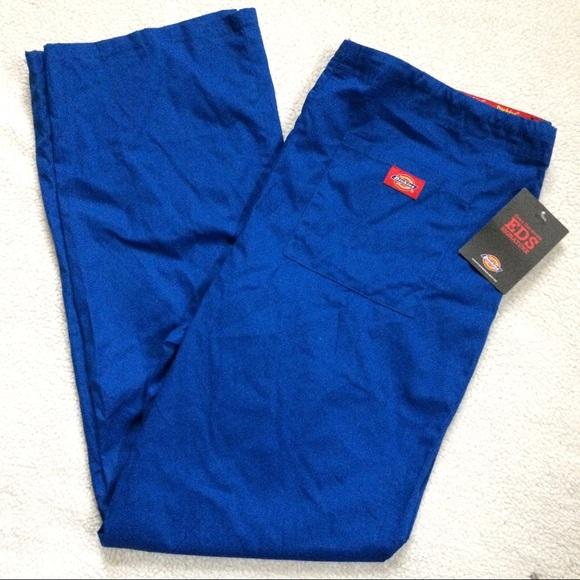 40% off Dickies Pants - NWT DICKIES Unisex Blue Scrubs ...
