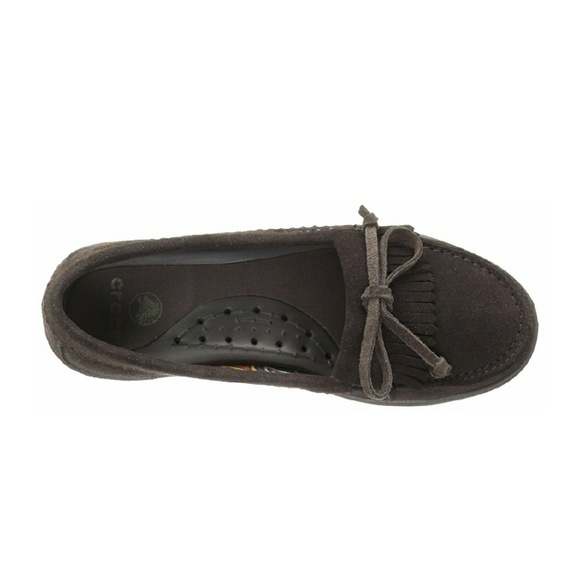 81 Off Crocs Shoes Women S Adela Suede Moccasin In