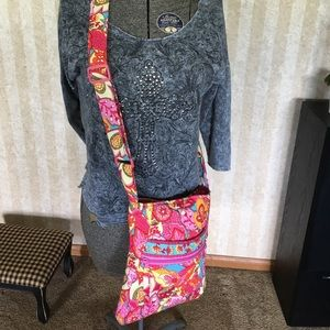 Cute quilted crossbody bag.