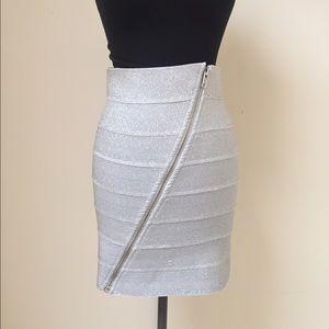 Pleasure Doing Business Dresses & Skirts - Pleasure Doing Business Metallic Bandage Skirt