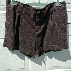 Tailored shorts mocha brown Tweed knit