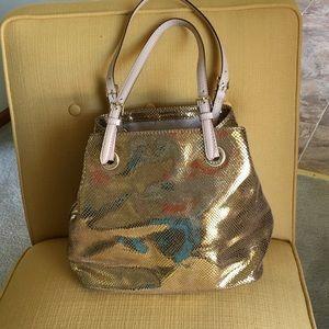 Michael Kors Handbags - 🙂New Listing🙂 Michael Kors gold python bag
