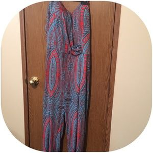 cameo Other - Gorgeous strapless pantsuit! Teal and red.