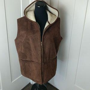 Lauren Ralf Lauren faux sherlin vest XL