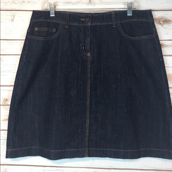 boden boden denim jean skirt pockets size 12 from