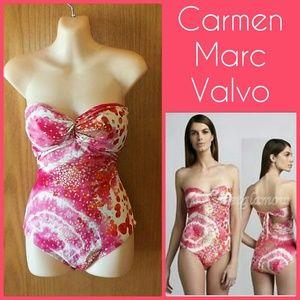 Carmen Marc Valvo Other - Tie Back Bandeau Swimsuit SZ 12 NWOT