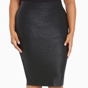 torrid Dresses & Skirts - 🖤Host Pick🖤 Torrid Black Ponte Pencil Skirt Sz 1