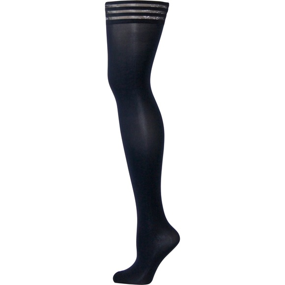 264249f898a Navy Blue thigh high stockings that stay up