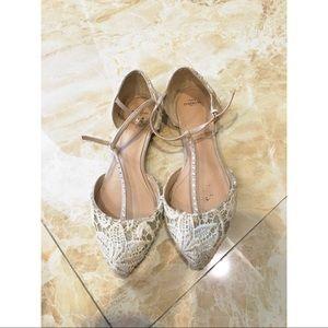 Zara Laced Flats, size 38/7.5