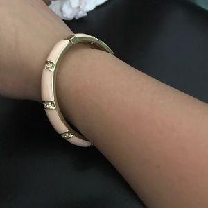 Peach hinged bangle bracelet