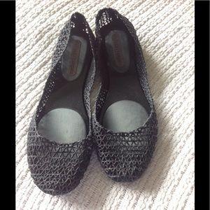 Melissa Shoes - Melissa black sparkly flats