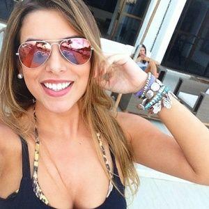 Accessories - Pink Mirror Aviator Sunglasses Women's