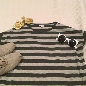 LulaRoe Gray Striped Irma
