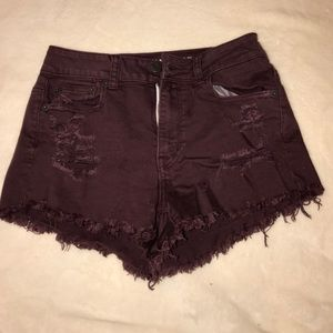American Eagle Outfitters Pants - American Eagle distressed maroon shorts