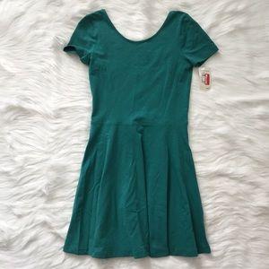 bp Dresses & Skirts - BP // NWT Green Short Sleeve Skater Dress