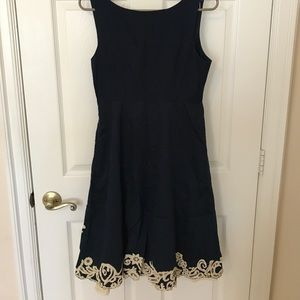 Anthropologie Dresses - Beautiful navy dress
