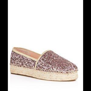 kate spade Shoes - Kate Spade Linds Too Glitter Platform Espadrilles