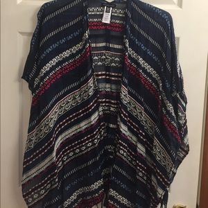 American Eagle Outfitters Sweaters - American Eagle fringe poncho