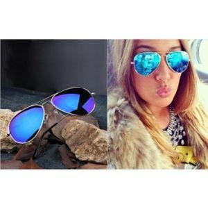 Accessories - Blue or Purple mirror Aviator Sunglasses