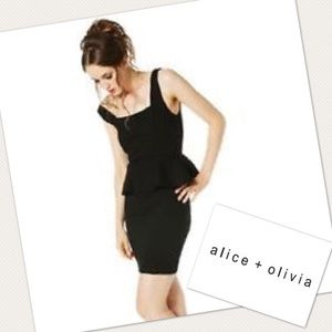 Alice & Olivia Dresses & Skirts - ALICE + OLIVIA Work Peplum Sleeveless Black Dress