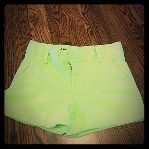 Alice & Olivia Pants - Alicia and Olivia neon green shorts