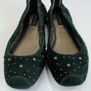 ruby & bloom Shoes - Ruby & Bloom Forest Green Leather Flats