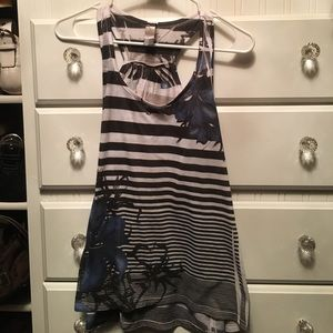 Blue and white tank by ZOAH Design. Size large