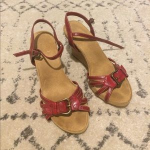 A2 By Aerosoles Shoes - A2 Red Wedges with Cork Heels