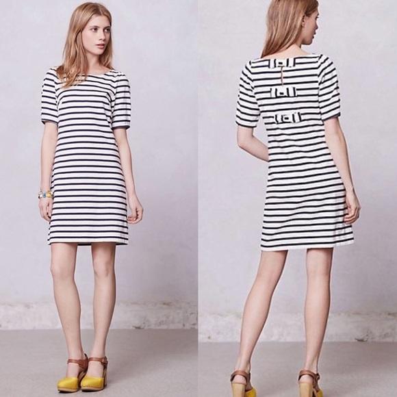 9cbf005f5fe Anthropologie Dresses   Skirts - Anthropologie Postmark Nautical Three Bow  Dress