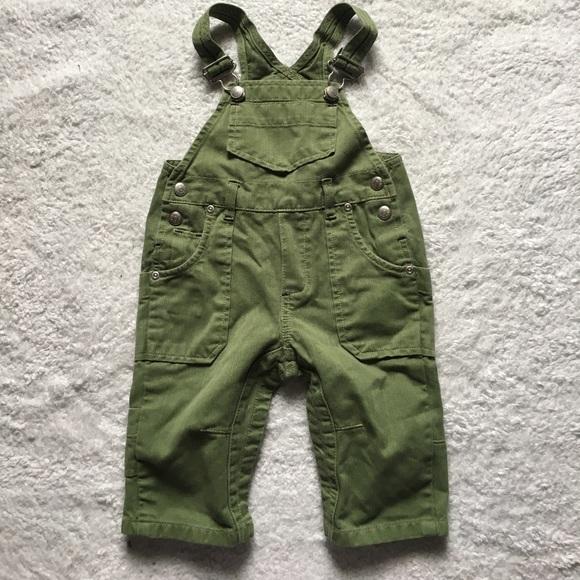 4d6fff9d68e7 GAP Other - Baby Gap Boys Green Denim Bib Overalls 6-12 Months