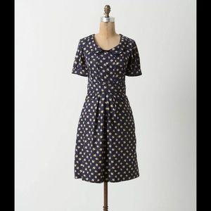 Anthropologie Acorn Dress with Peter Pan Collar