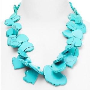New BaubleBar Turquoise sea glass bib necklace