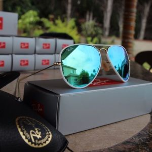 Ray-Ban Accessories - Authentic Ray Ban Custom Aviator Sunglasses