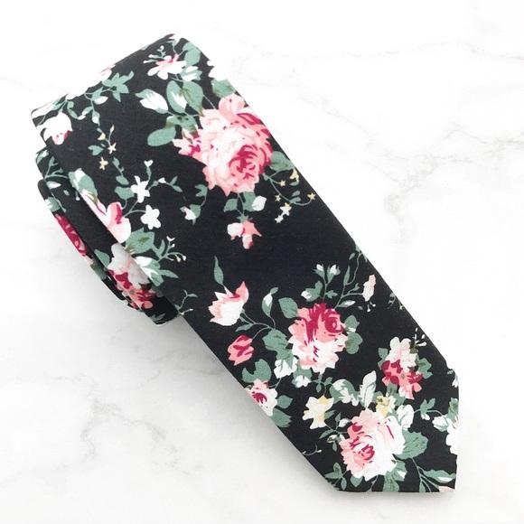 1cfc3b13f6ae New with tag Black Floral Tie. M_59501e3c8f0fc47c230530b2