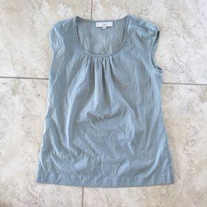 Grey Half Sleeve Blouse LOFT