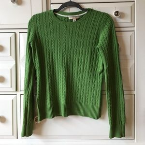 Merona Cable Green Sweater Sz M