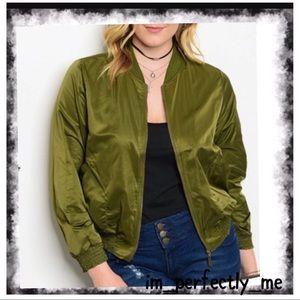 Jackets & Blazers - PLUS BOMBER JACKET GREEN