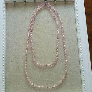 Jewelry - Pink Swarovski long beaded necklace