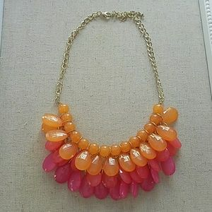 Jewelry - Orange and pink layered necklace